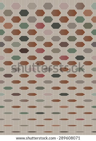 Abstract retro geometric background. Vector Illustration - stock vector