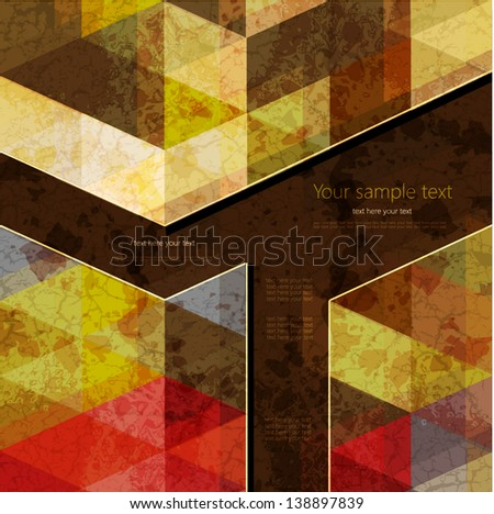 Abstract Retro Geometric Background with place for your text.Colorful abstract geometric background with triangular polygons. - stock vector