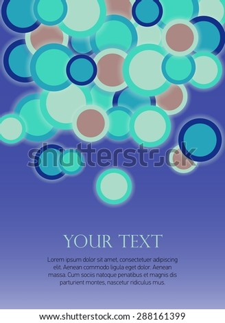 Abstract Retro Geometric background with vector design elements. Vintage. Vector Illustration. Colorful. Can be used for graphic invitation or website layout vector. - stock vector