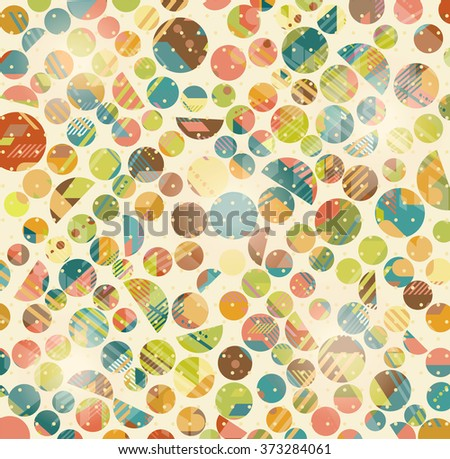 Abstract Retro Geometric circles pattern. Vector Illustration - stock vector