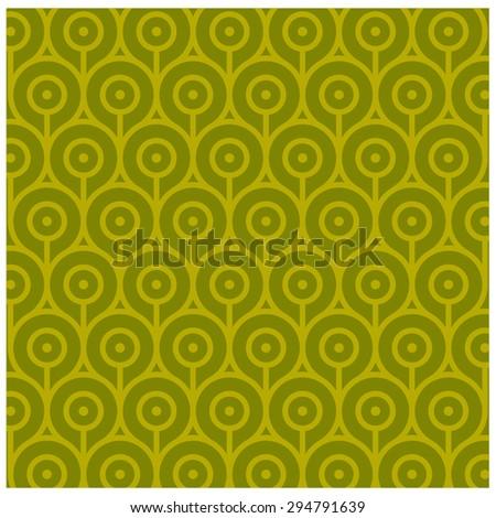 Abstract Retro Geometric pattern - stock vector