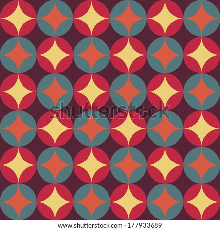 abstract retro geometric pattern for design - stock vector