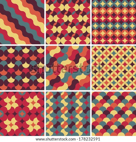abstract retro geometric pattern for design