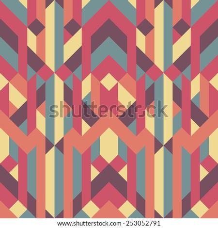 abstract retro geometric pattern illustrator eps 10 - stock vector