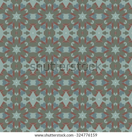 Abstract Retro Geometric seamless pattern with octagon shapes. Vector Illustration - stock vector