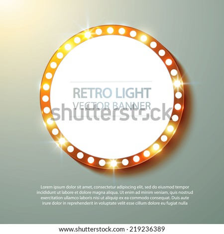 Abstract retro light banner. Vector illustration - stock vector