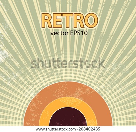 Abstract retro starburst background - stock vector