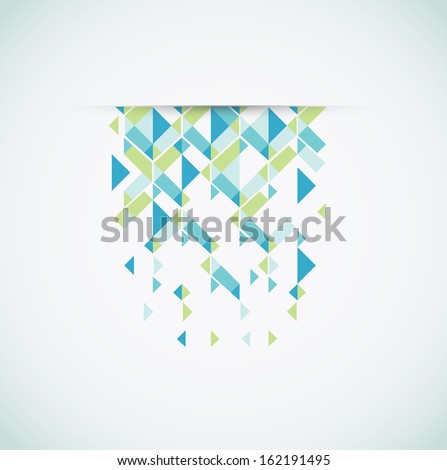 Abstract retro-style background. - stock vector