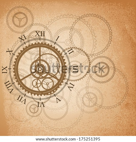 Abstract retro technology background. Vector illustration - stock vector