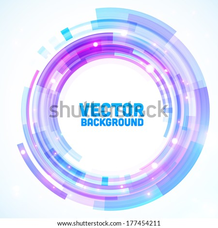 Abstract retro technology circle. Vector illustration. - stock vector