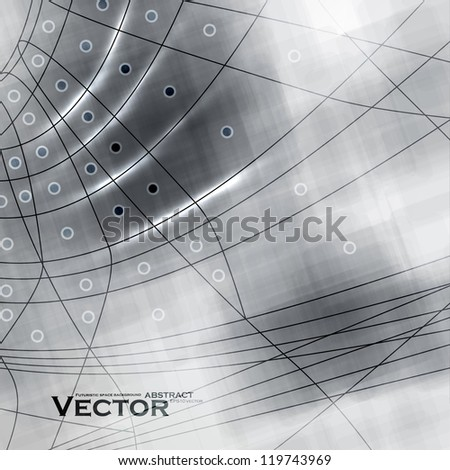 Abstract retro technology, vector technical background eps10. - stock vector