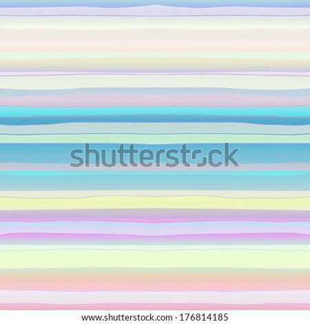Abstract Retro Vector Striped Background, Pattern of Colored Horizontal Stripes