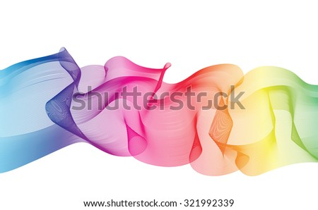 Abstract Ribbon Background. Beautiful rainbow stripes. Vector Design EPS10. - stock vector