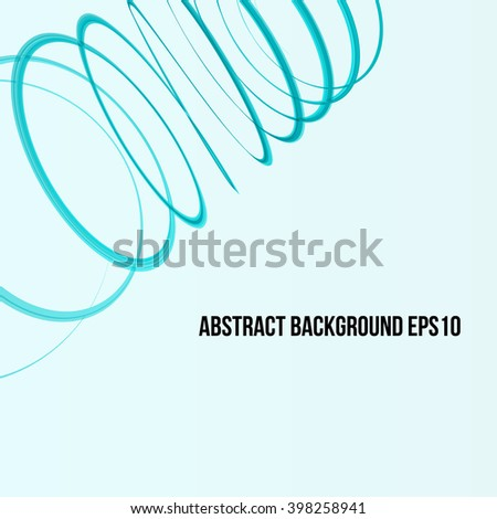Abstract Ribbon on White Background. Design Element for Graphic Design / Party Flyers / Business Presentation / Posters. Vector Illustration. - stock vector
