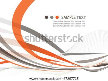 abstract ribbons background illustration design