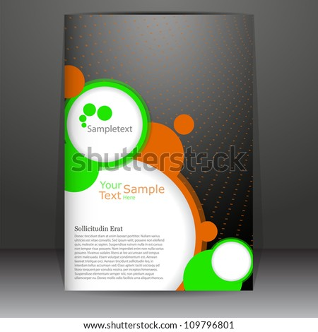 Abstract rings new poster design, vector template - stock vector