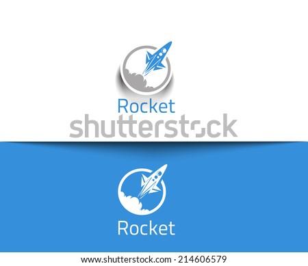 Abstract Rocket web Icons and vector logo  - stock vector