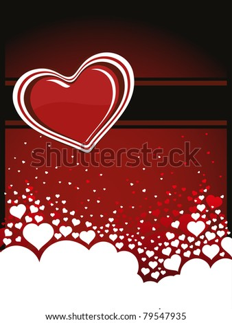 abstract romantic love background, illustration