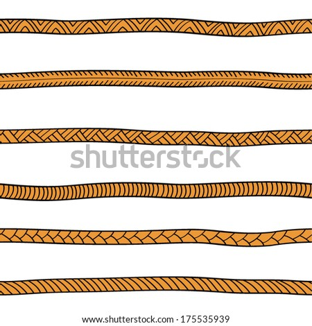 Abstract rope seamless pattern.