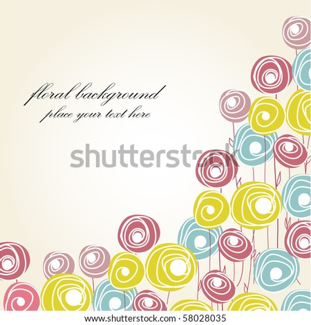 Abstract roses - stock vector