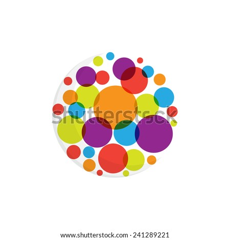 Abstract round dots logo - stock vector