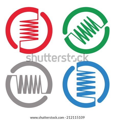 "Abstract round logo element. Colorful digital wave icon. ""n"", ""m"" ,""v ..."