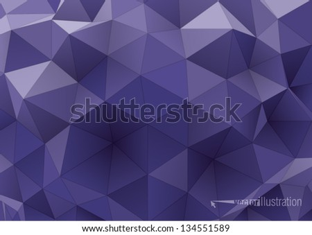 abstract rumpled triangular background,  low poly style illustration - stock vector