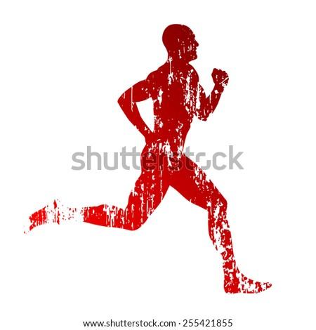 Abstract runner - stock vector