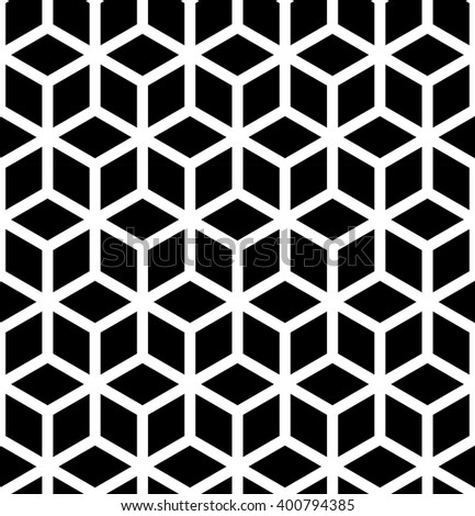 Abstract sacred geometry  black and white hipster fashion pillow cubes pattern - stock vector