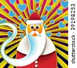 Abstract santa claus background. Vector illustration. - stock vector