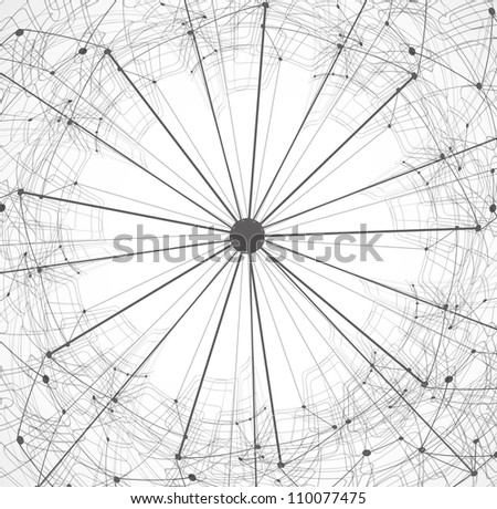 abstract satellite circle technology vector design