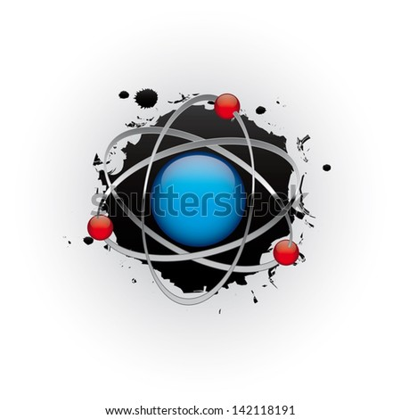 Abstract sci-fi planet in space - vector illustration - stock vector