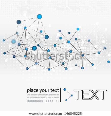 Abstract science background - stock vector