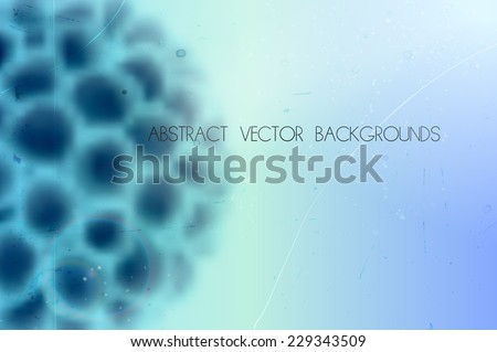abstract scientific vector background with blurred organic shape - stock vector