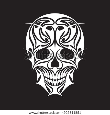 Abstract Scull Vector Illustration for prints, t-shirts, tattoos and other creative projects. - stock vector