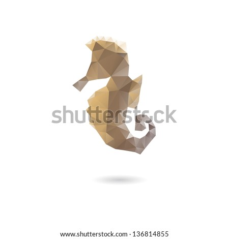 Abstract sea horse isolated on a white backgrounds - stock vector