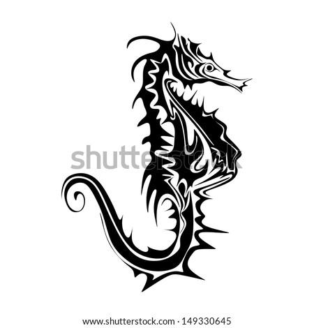 abstract seahorse vector - stock vector