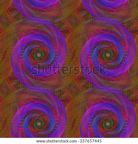 Abstract seamless abstract spiral fractal pattern background