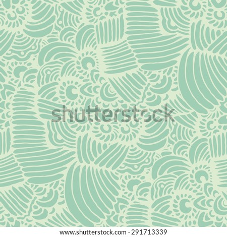 Abstract seamless background  in doodle style.  Vector illustration