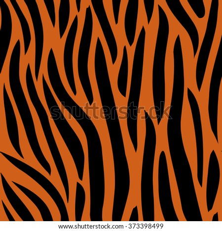 Abstract seamless background look like skin of tiger - stock vector
