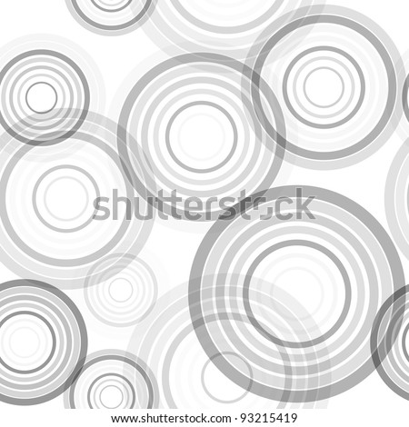 Abstract seamless background made of set of rings, vector illustration, eps10, 2 layers - stock vector
