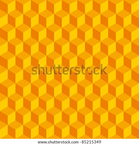 Abstract seamless background with cube decoration - stock vector