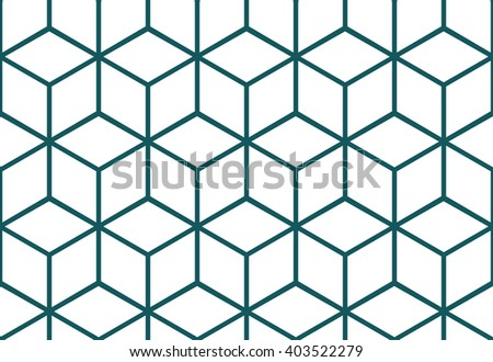 Abstract seamless background with cube decoration. Vector geometric pattern. Optical illusion. - stock vector