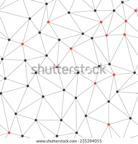 Abstract seamless background with many connected dots - stock vector