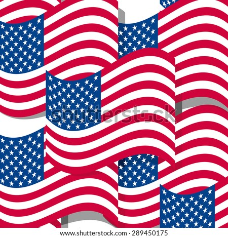 Abstract seamless background with USA flag pattern,vector illustration