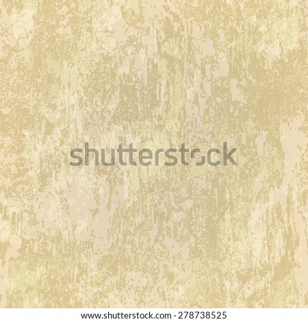 abstract seamless beige texture of rusted metal - stock vector