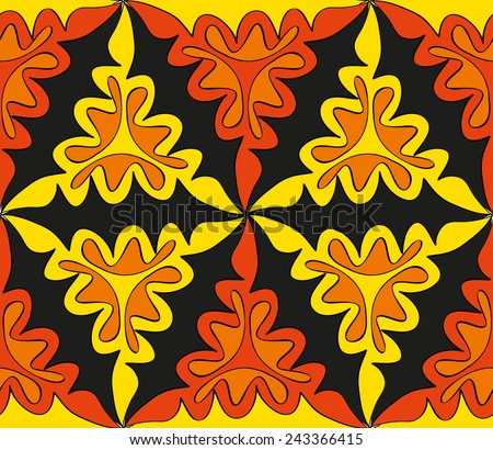 Abstract seamless bright pattern for your design - stock vector