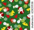 Abstract seamless christmas pattern. Illustration vector. - stock vector