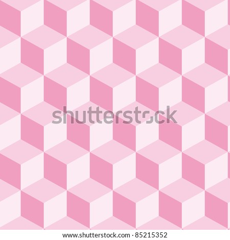 Abstract seamless cube background - stock vector
