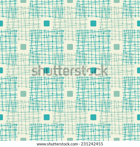 abstract seamless doodle check - stock vector